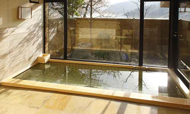 大浴場 冬桜